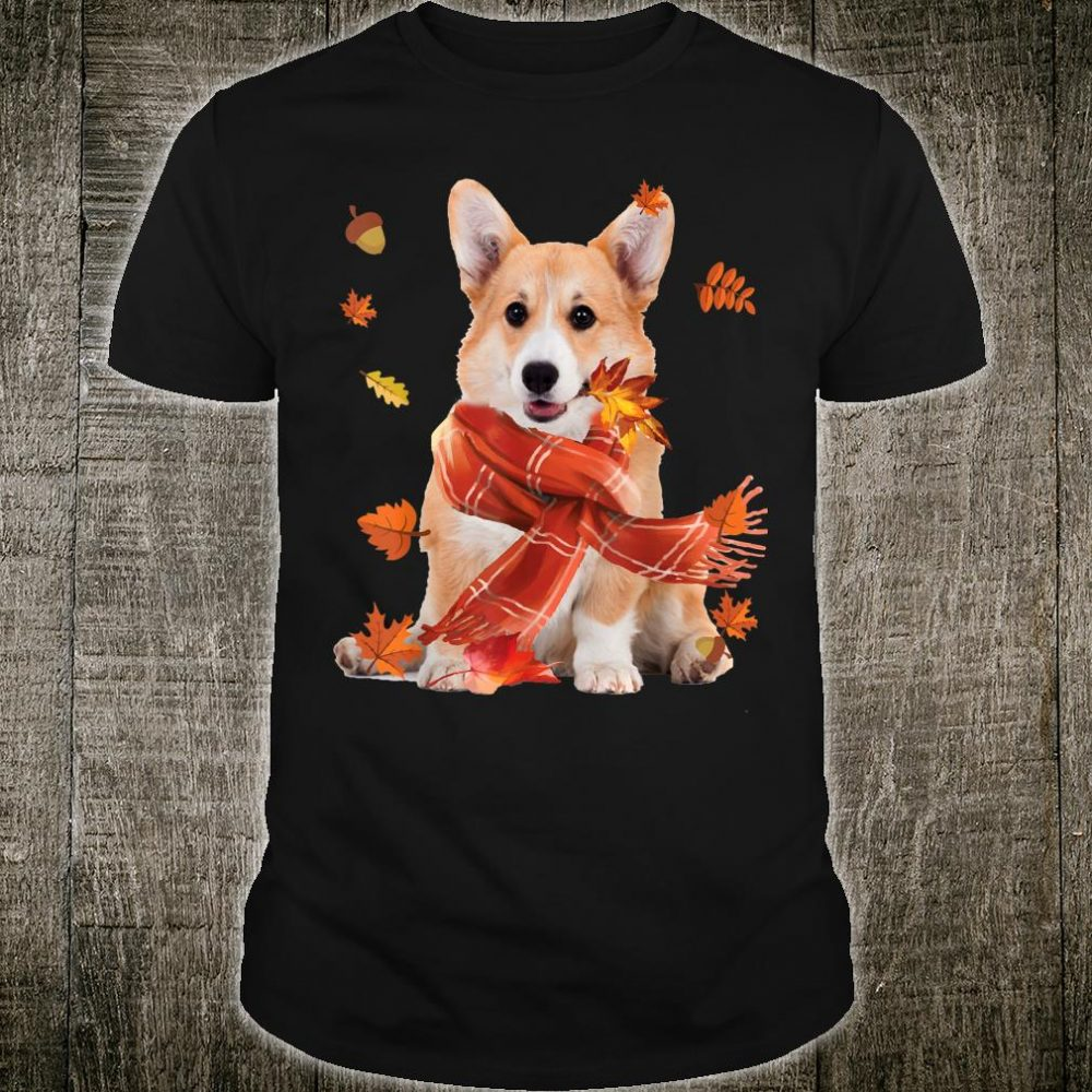 Corgi Dog Autumn Thanksgiving Shirt