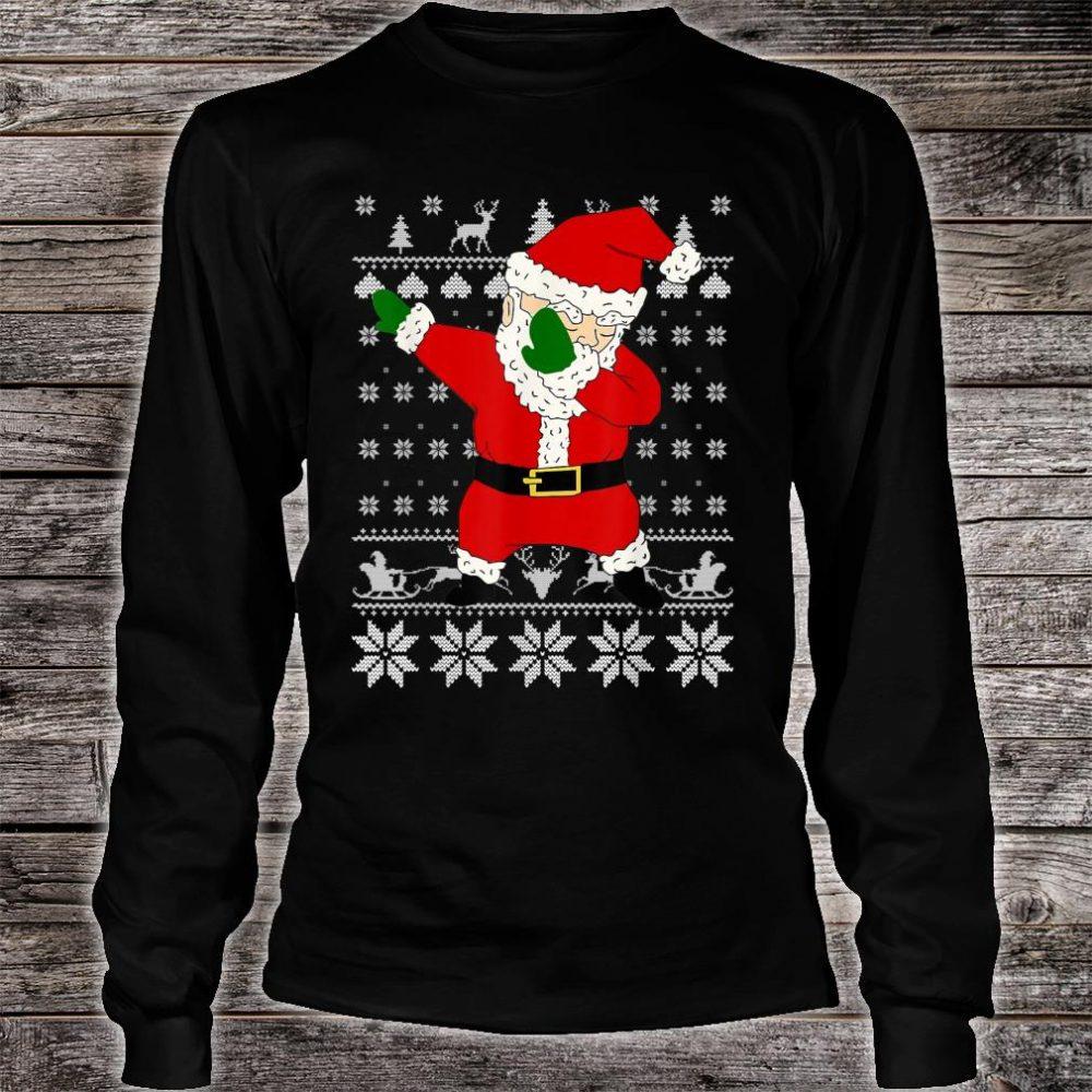 Dabbing Santa Ugly Christmas Shirt long sleeved