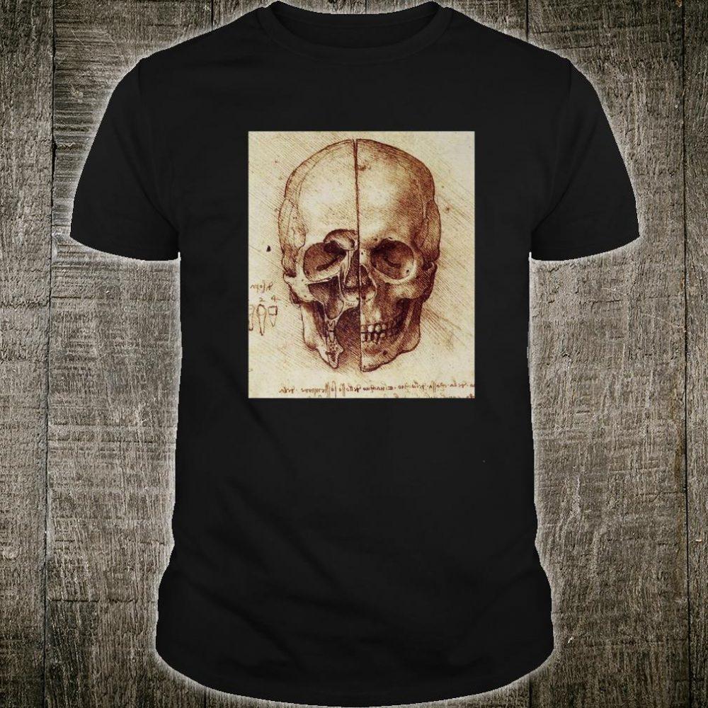Doctor Idea Skull Drawing by Leonardo Da Vinci Vintage Shirt