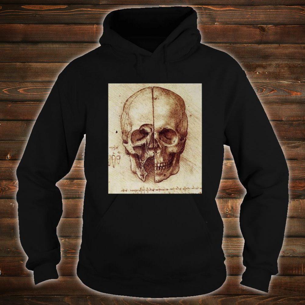 Doctor Idea Skull Drawing by Leonardo Da Vinci Vintage Shirt hoodie