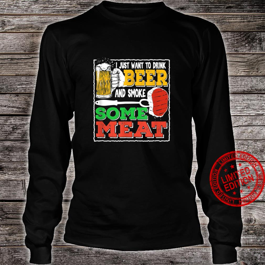 Funny Beer & BBQ For A Beer Loving Grill Chef Shirt long sleeved
