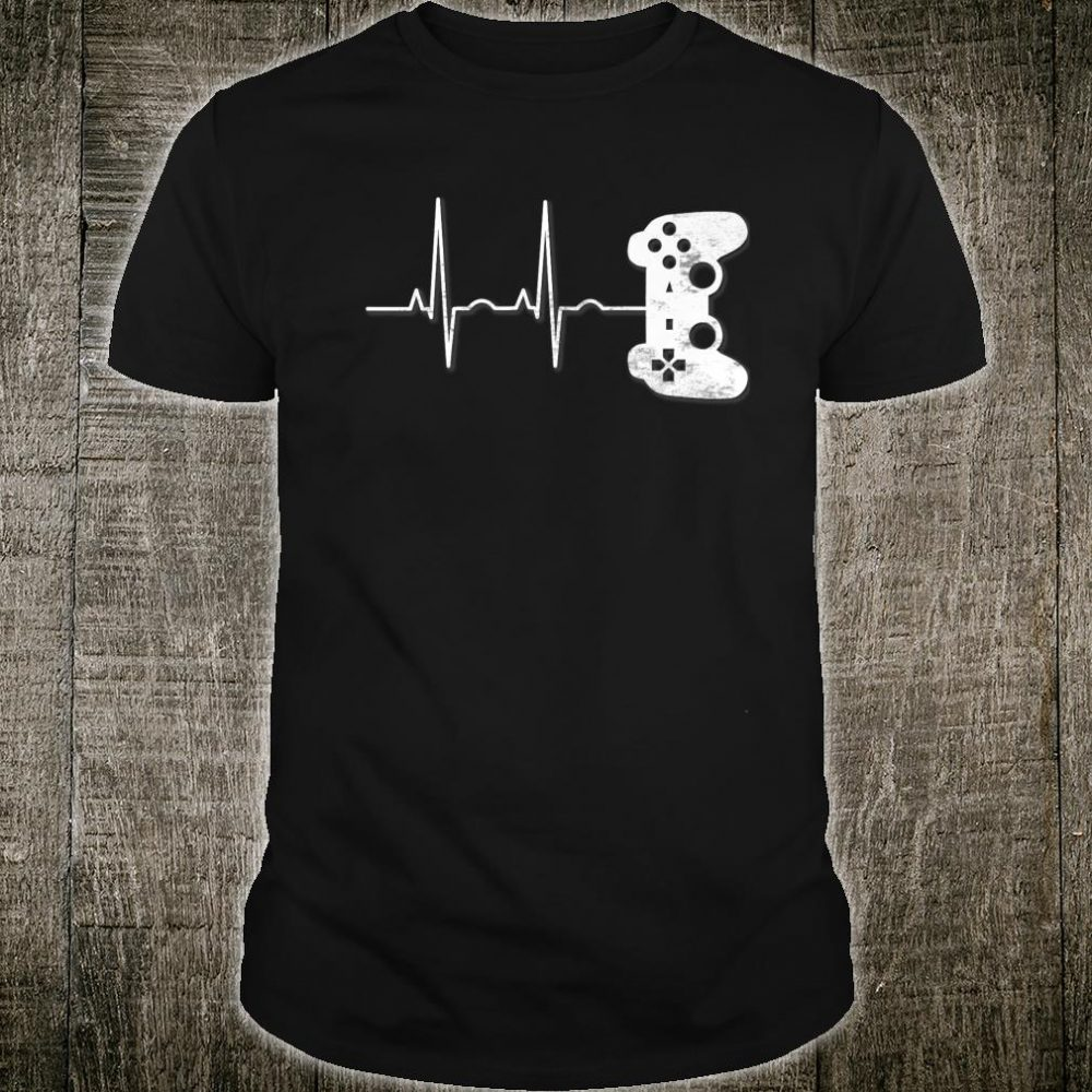 Gamer Heartbeat Video PC Game Apparel Shirt