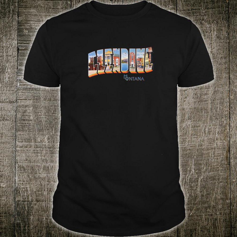 Glendive Montana MT Vintage Retro Souvenir Shirt
