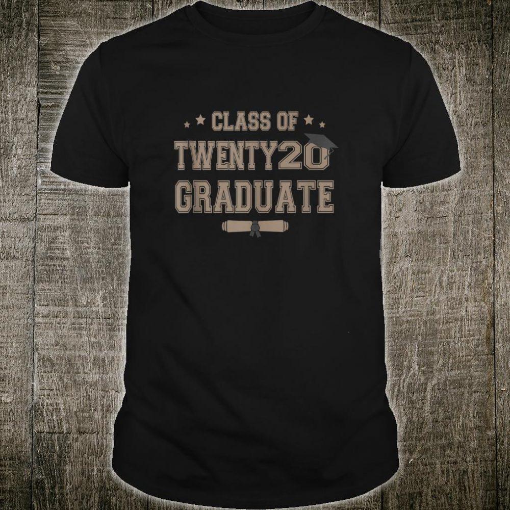 Graduating Class Of 2020 College High School Senior Grad Shirt