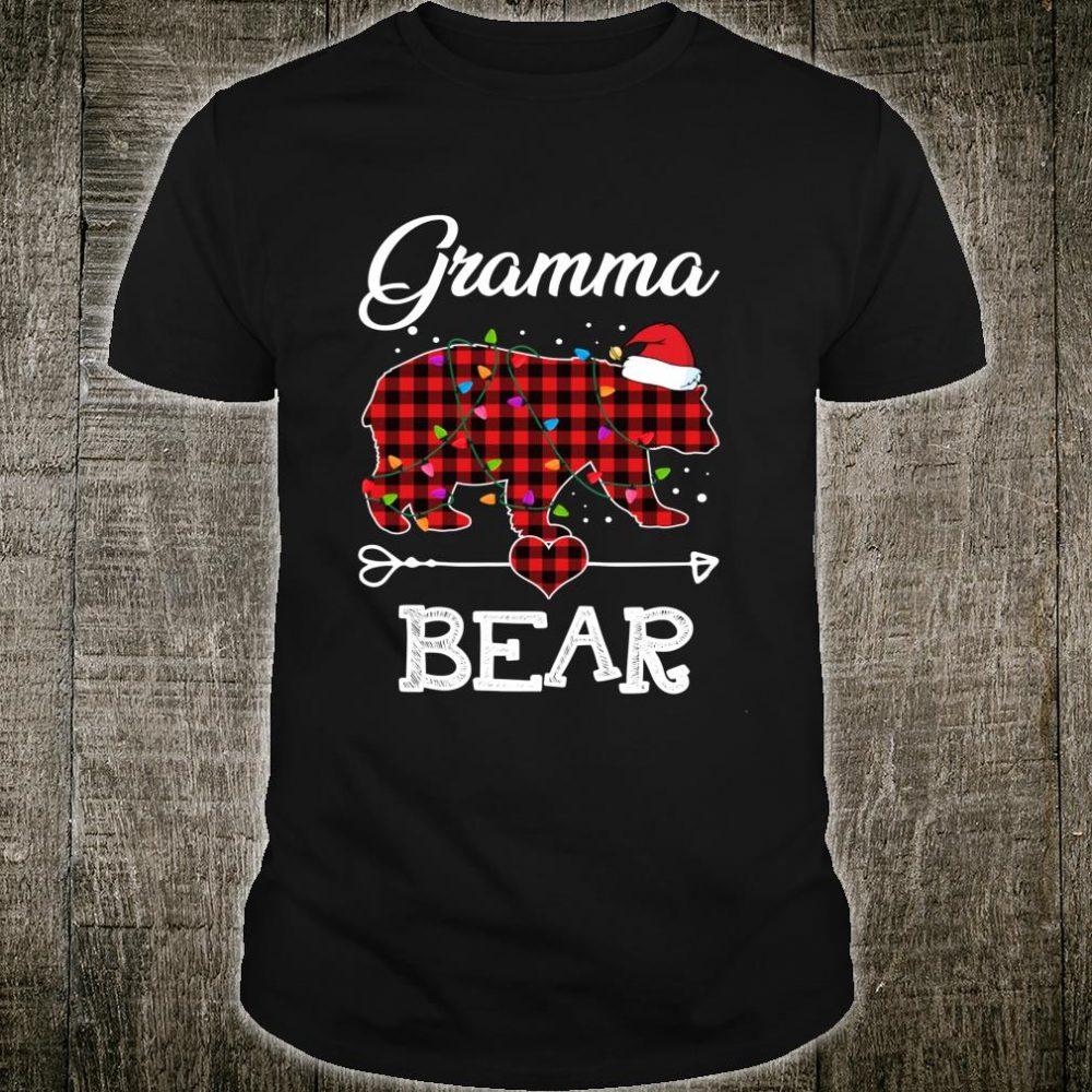 Gramma Bear Christmas Pajama Red Plaid Buffalo Family Shirt