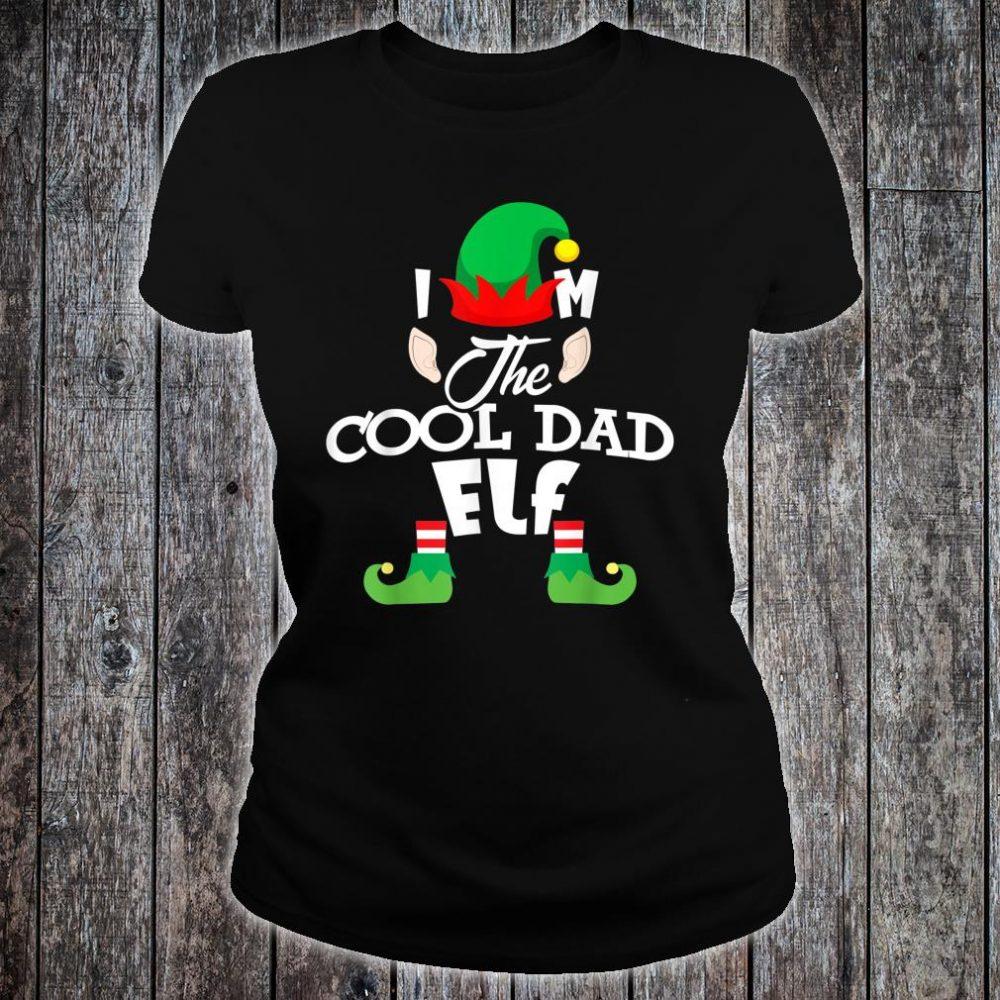 I'm The Cool Dad Elf Christmas Shirt ladies tee