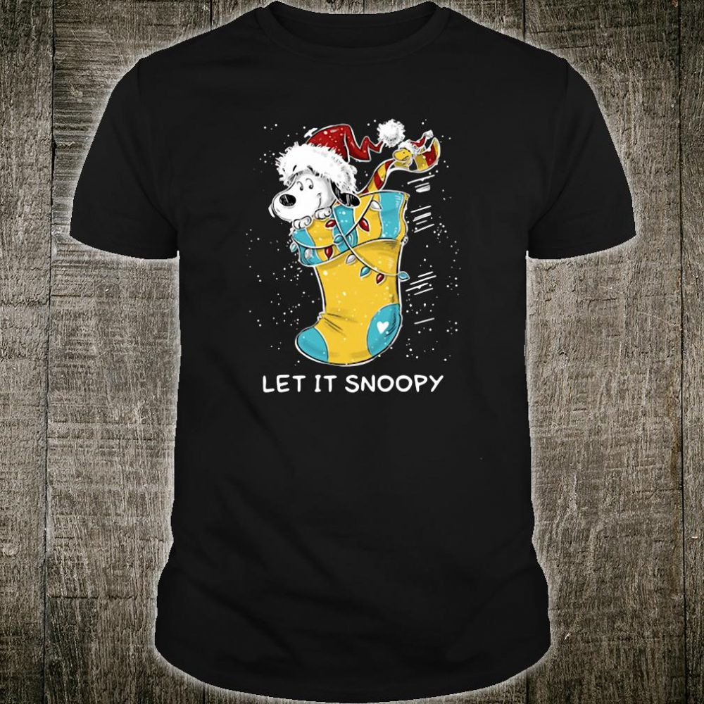 Let it Snoopy sock Christmas shirt