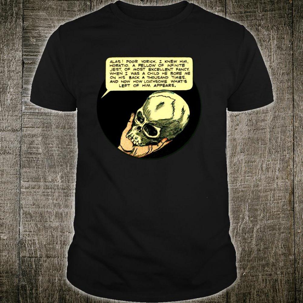 Literature ShakespearePoor Yorick Shakespeare Hamlet Shirt