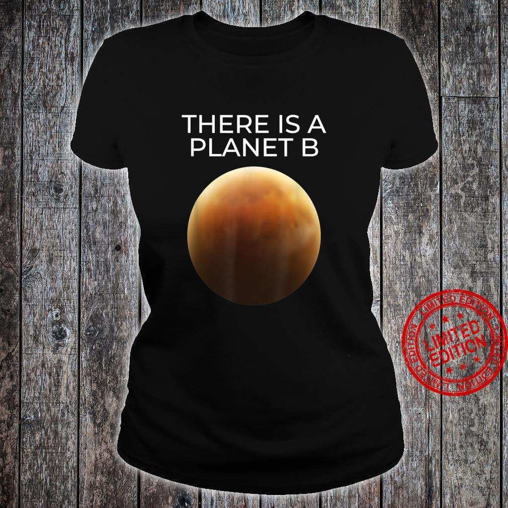 Mars Planet Astrophysics Astronaut Space Shirt ladies tee