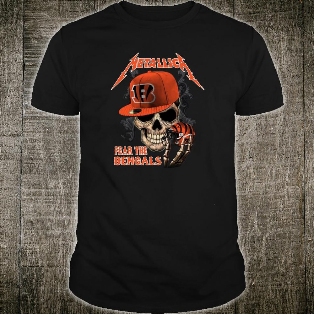 Metallic fear the Bengals shirt