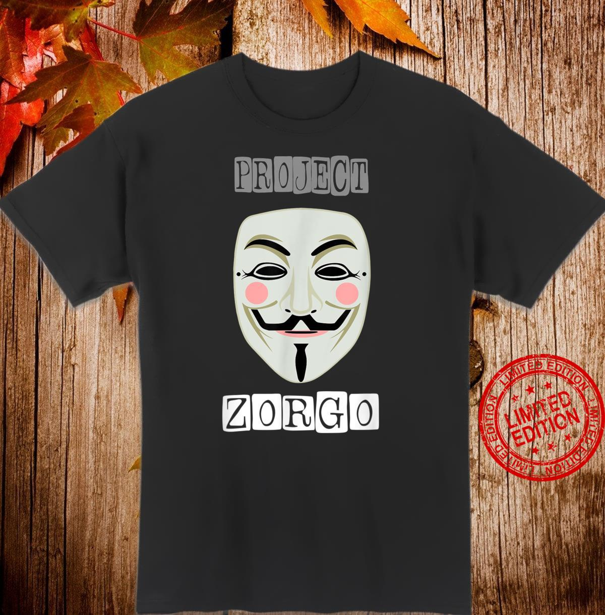 Projekt Zorgo Anonymous Mask Hacker Shirt
