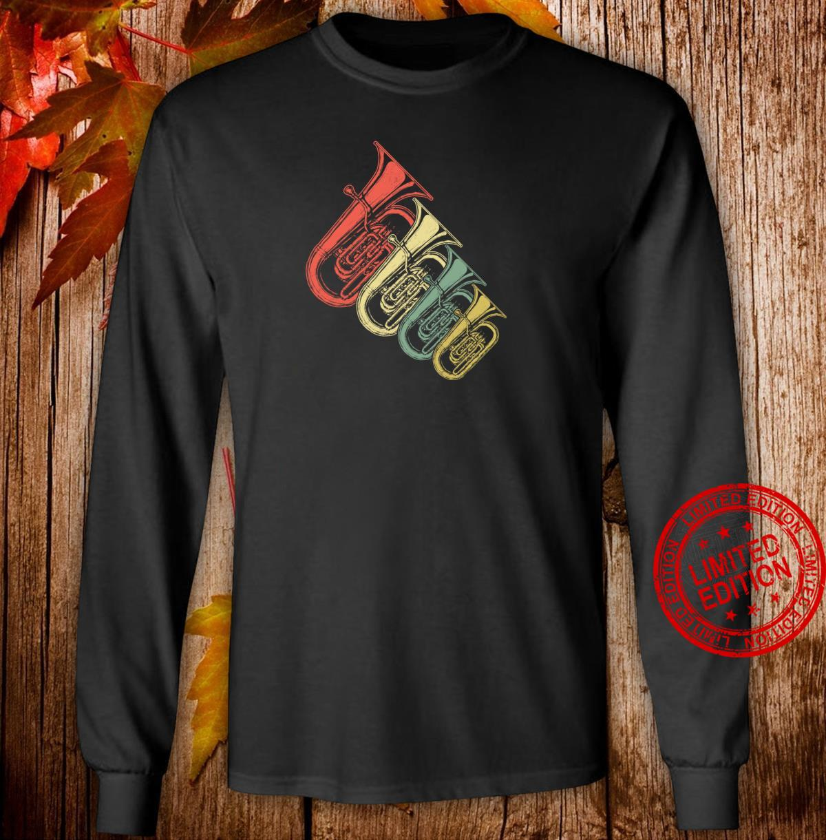 Retro Tuba Shirt long sleeved