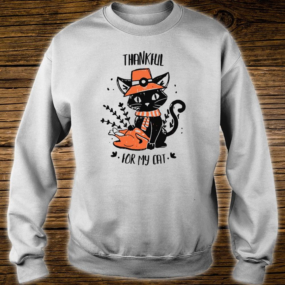 Thankful for my cat shirt sweater