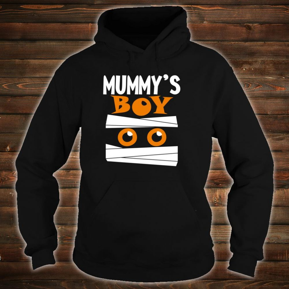 Unique Boys Mummy's Boy Halloween Egyptian Mummy Wrap Face Shirt hoodie
