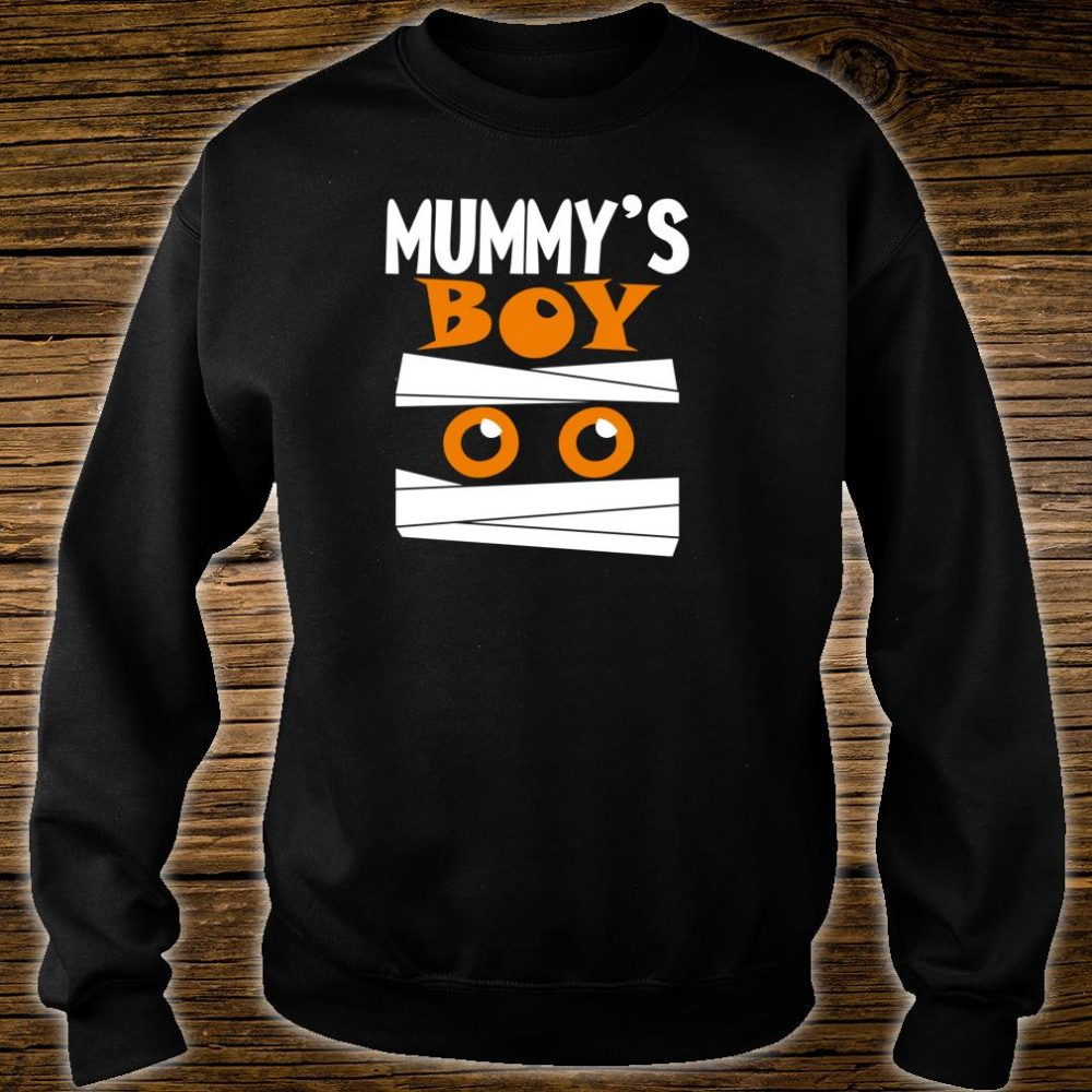 Unique Boys Mummy's Boy Halloween Egyptian Mummy Wrap Face Shirt sweater