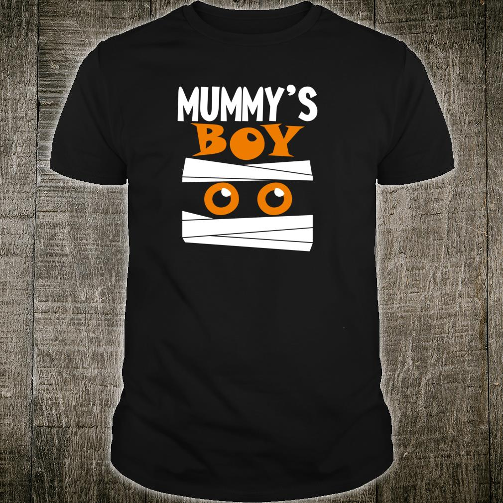 Unique Boys Mummy's Boy Halloween Egyptian Mummy Wrap Face Shirt