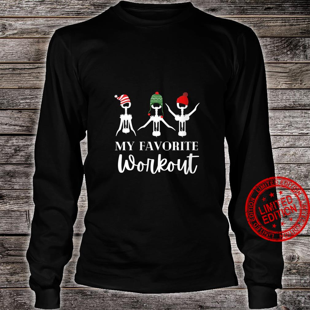 Womens My Favorite Workout's Christmas Wines Shirt long sleeved