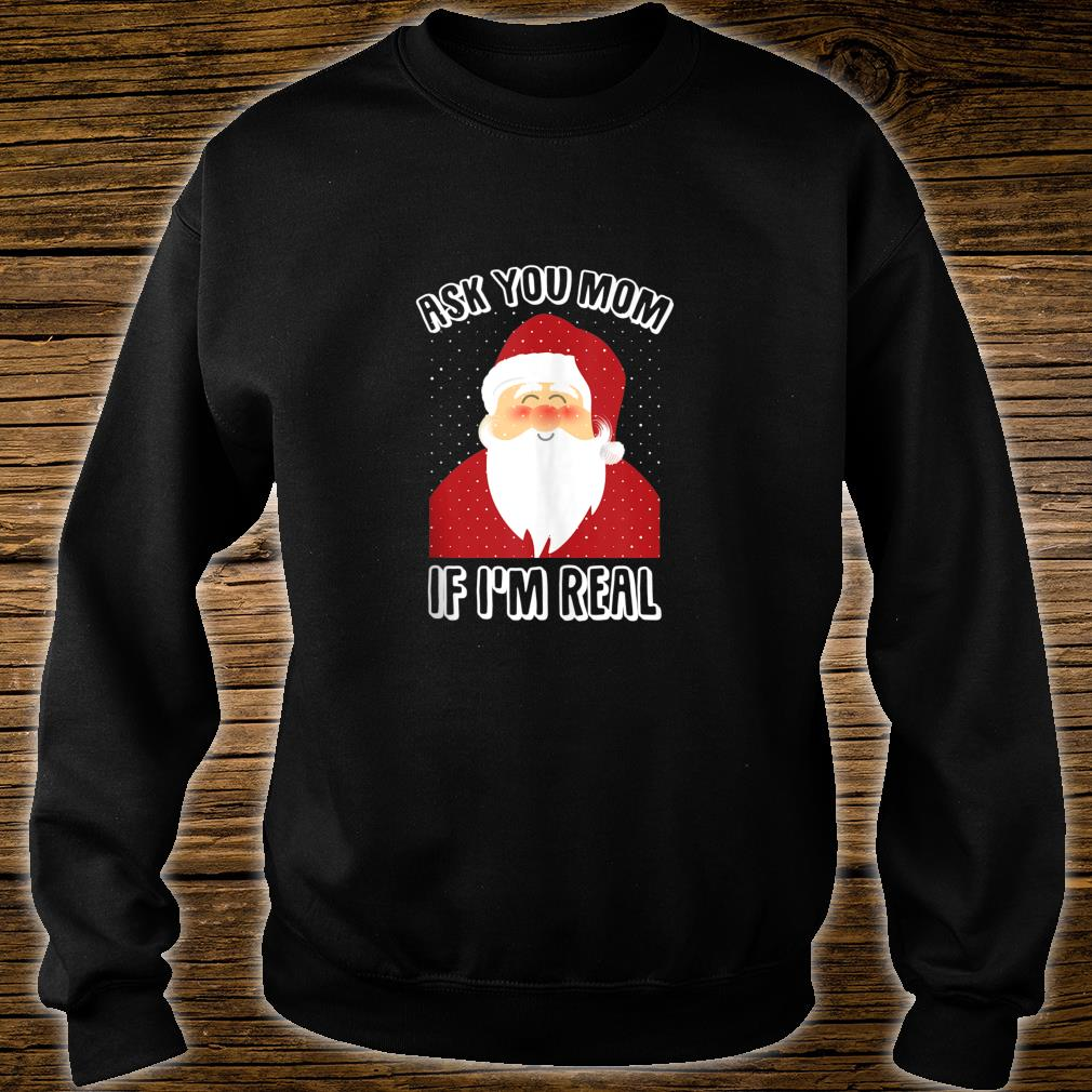 Xmas Tops shirt Christmas Eve Be Nice to the Hairdresser Santa is watching T
